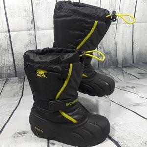 Sorel Waterproof Black Kids Unisex Boots Size 3
